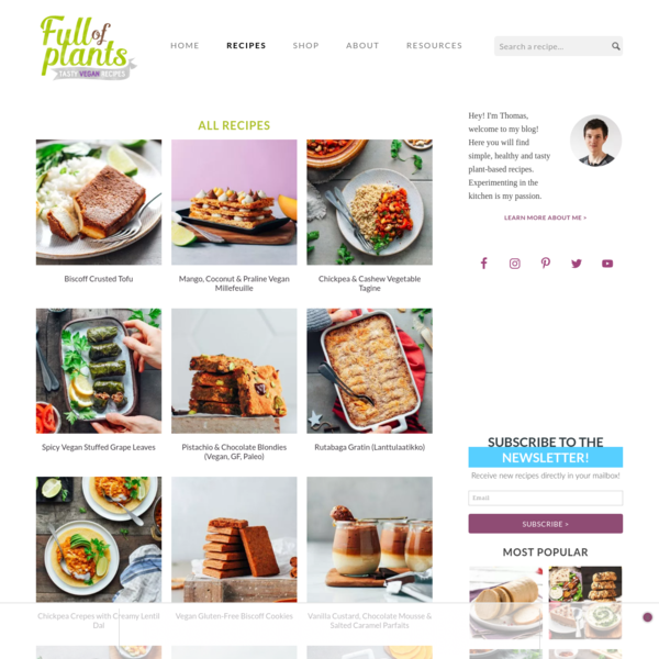 Recipes - Full of Plants
