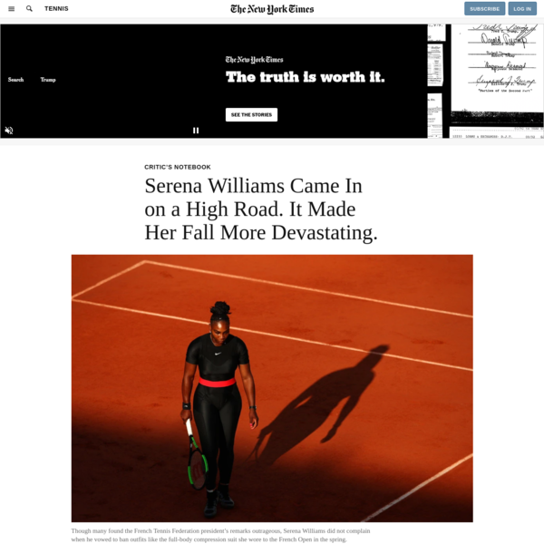 Serena Williams Came In on a High Road. It Made Her Fall More Devastating.
