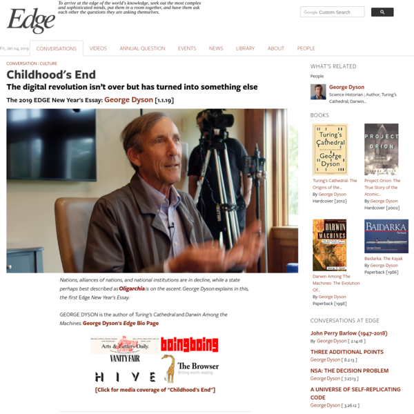 Childhood's End | Edge.org