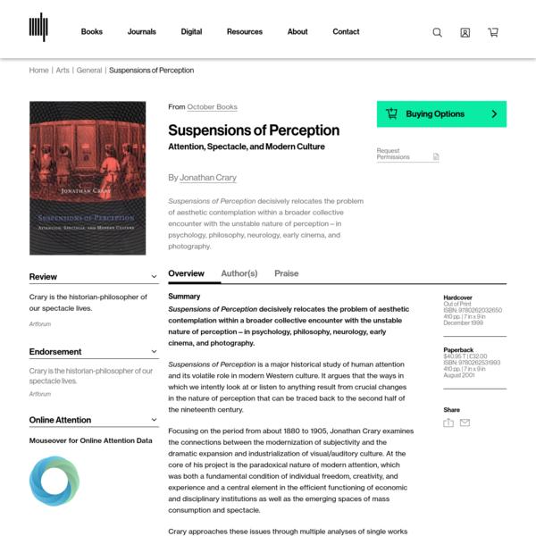 Suspensions of Perception