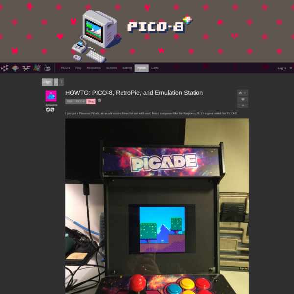HOWTO: PICO-8, RetroPie, and Emulation Station