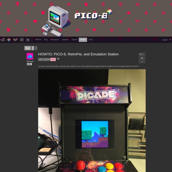 HOWTO: PICO-8, RetroPie, and Emulation Station