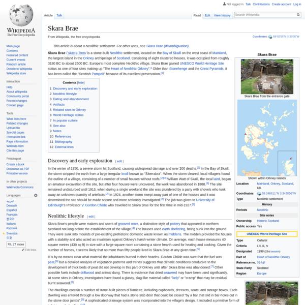 Skara Brae - Wikipedia