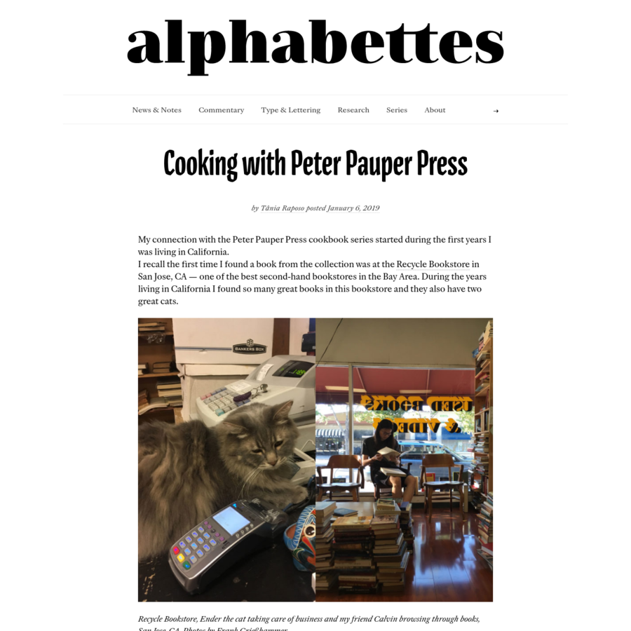 My connection with the Peter Pauper Press cookbook series started during the first years I was living in California. I recall the first time I found a book from the collection was at the Recycle Bookstore in San Jose, CA - one of the best second-hand bookstores in the Bay Area.