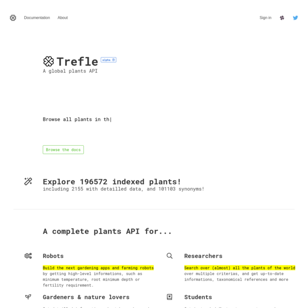 Trefle | Global plant API