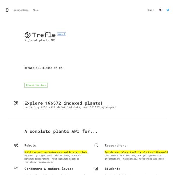 Trefle | Global plant API
