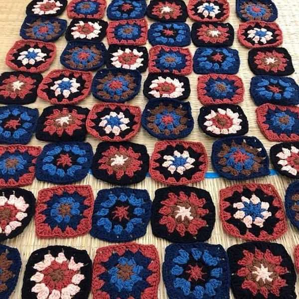 Every Piece Scarf is the result of lots of ladies busy finger-work. Each square is hand crochet (not to mention yarn dyed by...