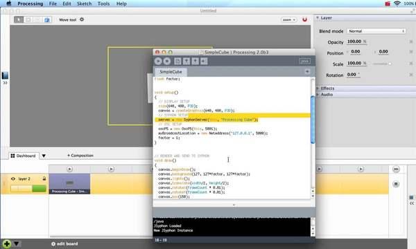 Processing, Syphon & OSC