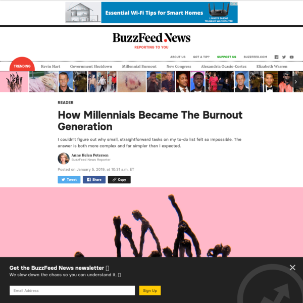 How Millennials Became The Burnout Generation