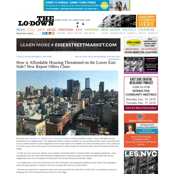 How is Affordable Housing Threatened on the Lower East Side? New Report Offers Clues   The Lo-Down : News from the Lower East Side