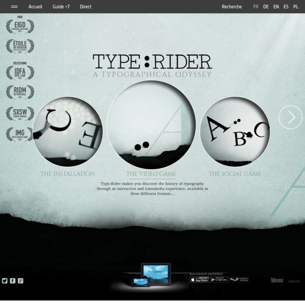 Type:Rider, un jeu vidéo typographique | ARTE