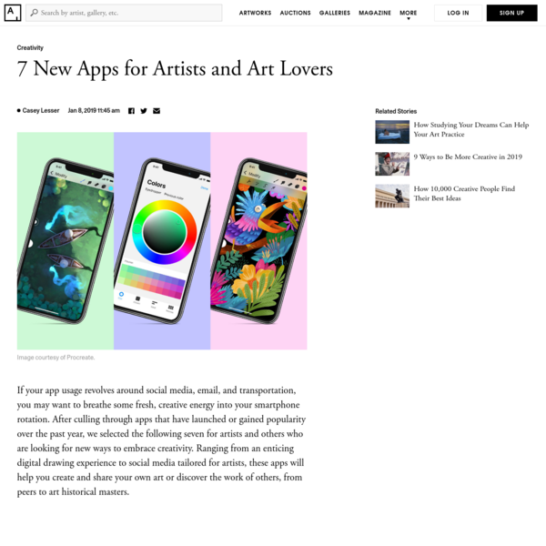 The Best New Apps for Artists and Art Lovers
