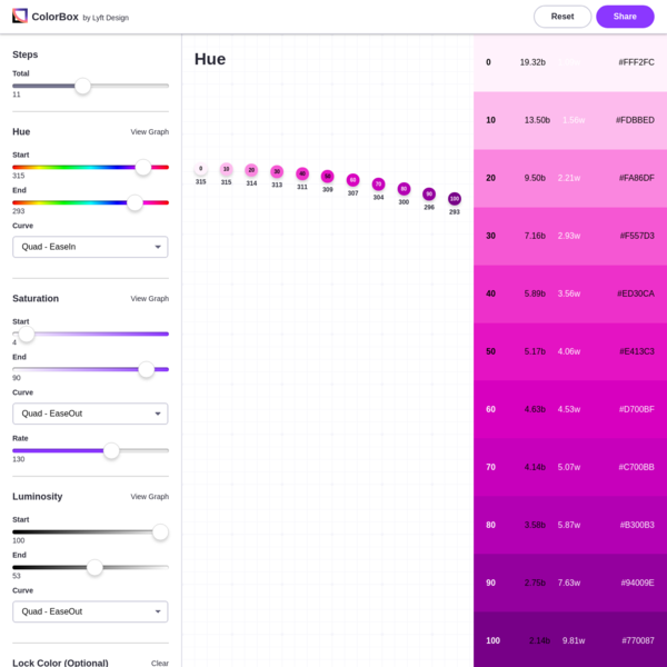 Colorbox is a color tool to produce color sets.