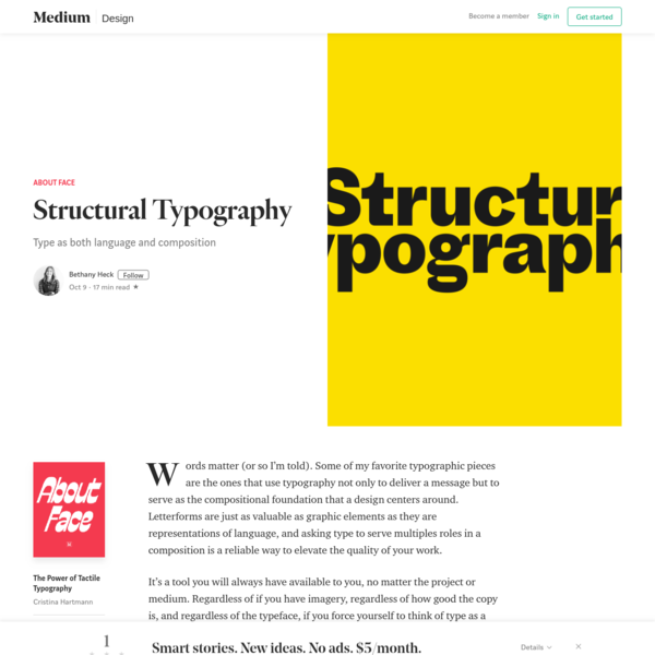 An Introduction to Structural Typography - About Face - Medium