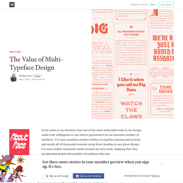The Value of Multi-Typeface Design - About Face - Medium
