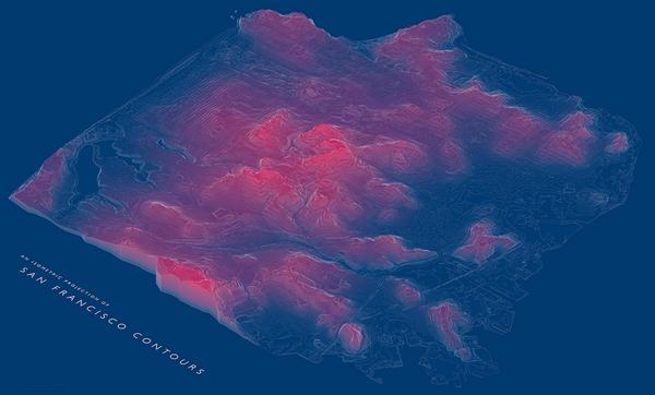 San Francisco Contours by Abe Bingham
