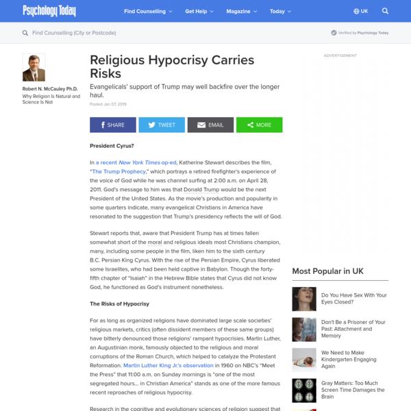 Religious Hypocrisy Carries Risks
