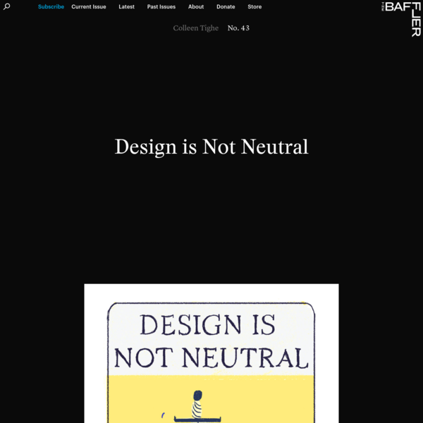 Design is Not Neutral