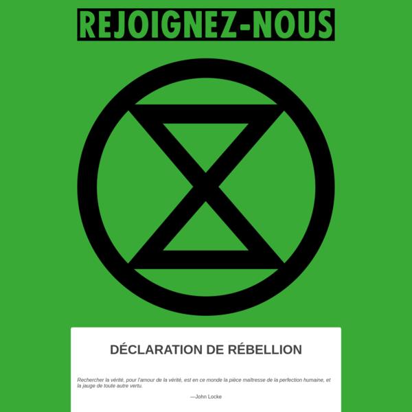 Extinction Rebellion - La Rébellion Commence