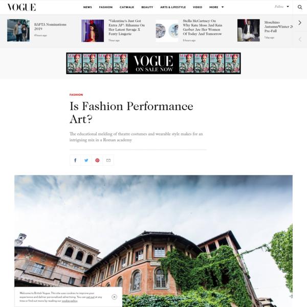 Is Fashion Performance Art?