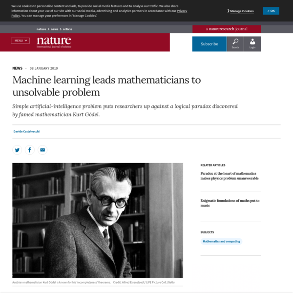 A team of researchers has stumbled on a question that is mathematically unanswerable because it is linked to logical paradoxes discovered by Austrian mathematician Kurt Gödel in the 1930s that can't be solved using standard mathematics.