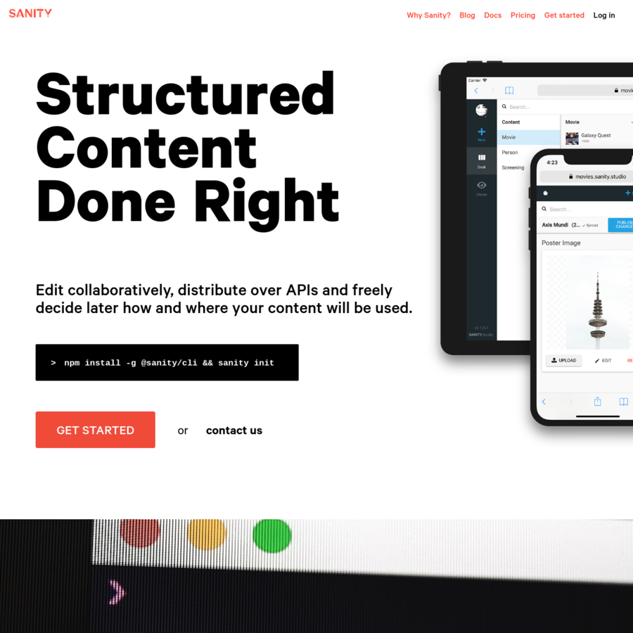 Structured Content. Done Right. Edit collaboratively, distribute over APIs and freely decide later on how and where you content will be used.