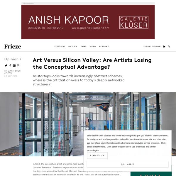 Art Versus Silicon Valley: Are Artists Losing the Conceptual Advantage?