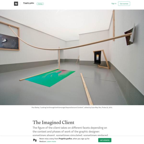 The Imagined Client - Progetto grafico - Medium