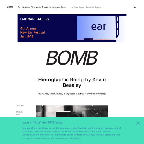 Hieroglyphic Being by Kevin Beasley - BOMB Magazine