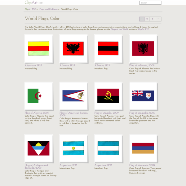 World Flags, Color | ClipArt ETC