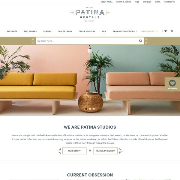 Patina Furniture, Decor and Prop Rentals in New York City   Patina
