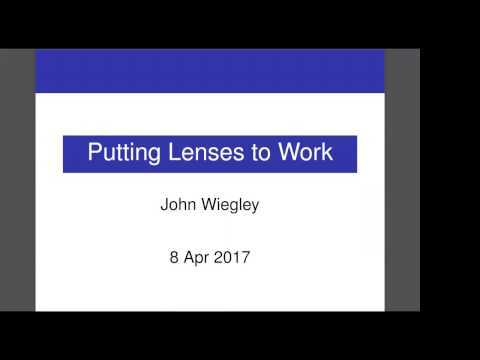 Presented at BayHac 2017 https://wiki.haskell.org/BayHac2017 Slides: https://github.com/jwiegley/putting-lenses-to-work/blob/master/putting-lenses-to-work.pdf