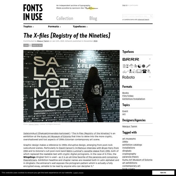 The X-files [Registry of the Nineties]