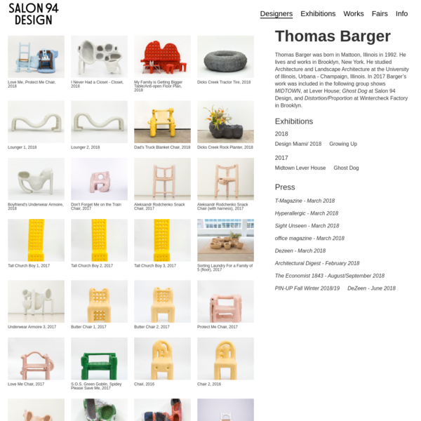 Thomas Barger - Salon 94 Design