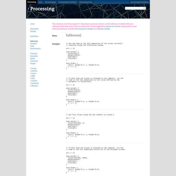 fullScreen() \ Language (API) \ Processing 3+