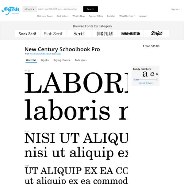 "New Century Schoolbook Pro Roman - Desktop font "" MyFonts"