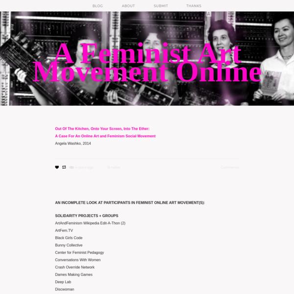 A Feminist Art Movement Online