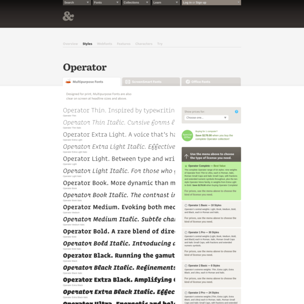 Download Operator Fonts | Hoefler & Co.