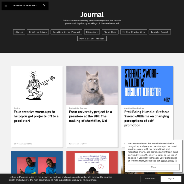 Journal | Lecture In Progress