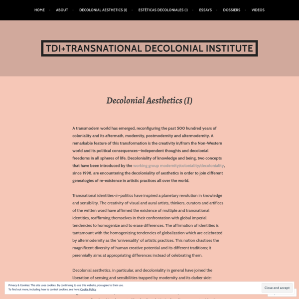 Decolonial Aesthetics (I)
