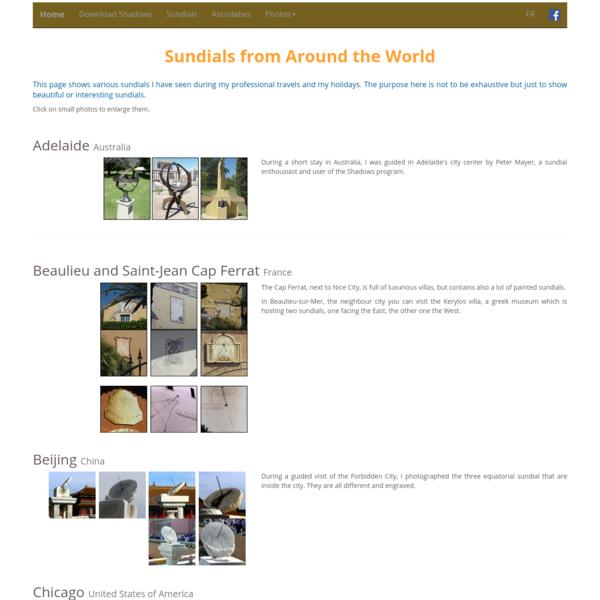 Sundials from around the world - Shadows Pro