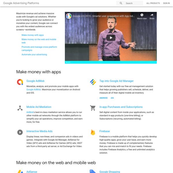 Ads | Google Developers