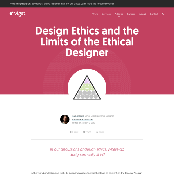 Design Ethics and the Limits of the Ethical Designer | Viget