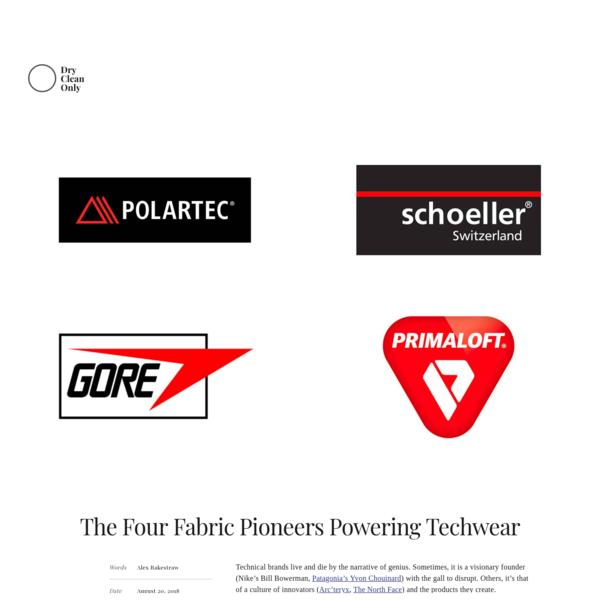 The Four Fabric Pioneers Powering Techwear - Techwear Fabric Designers