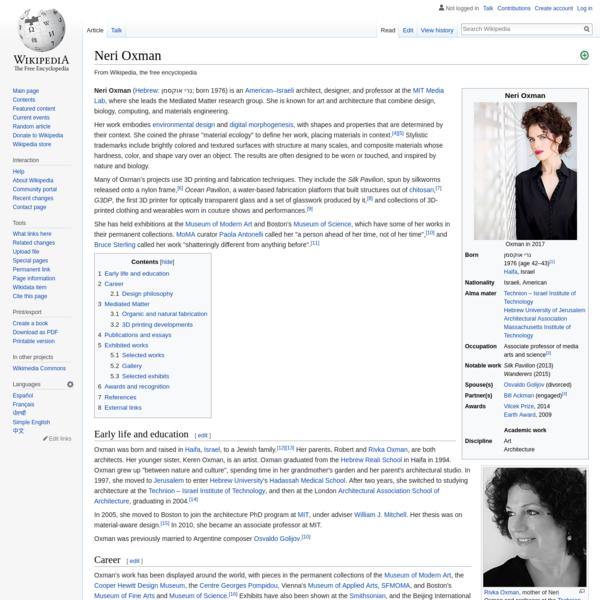 Neri Oxman - Wikipedia