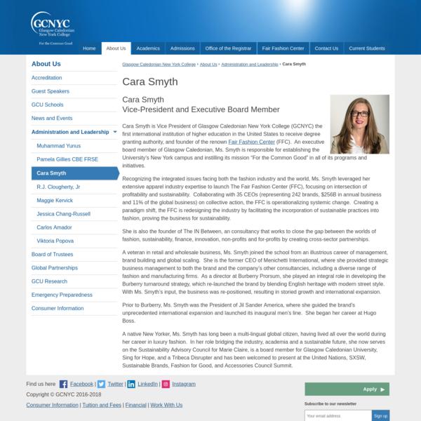 Cara Smyth | Glasgow Caledonian New York College