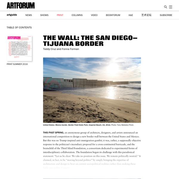 THE WALL: THE SAN DIEGO-TIJUANA BORDER