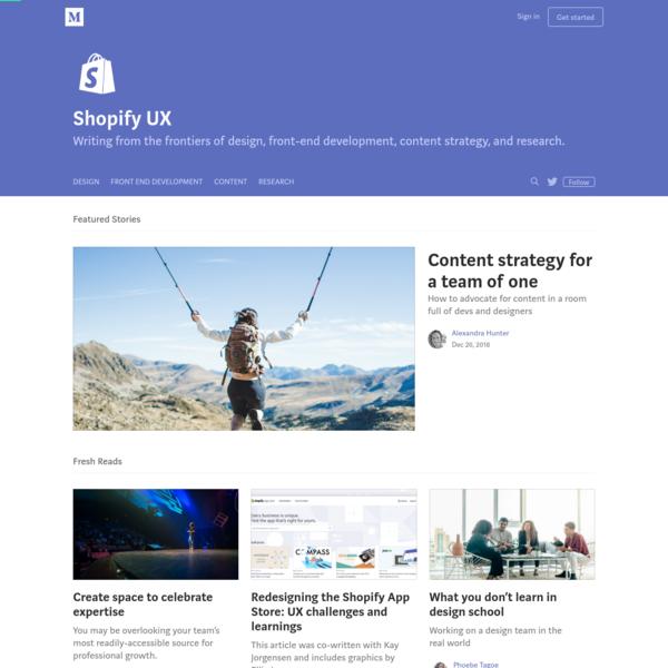 Shopify UX