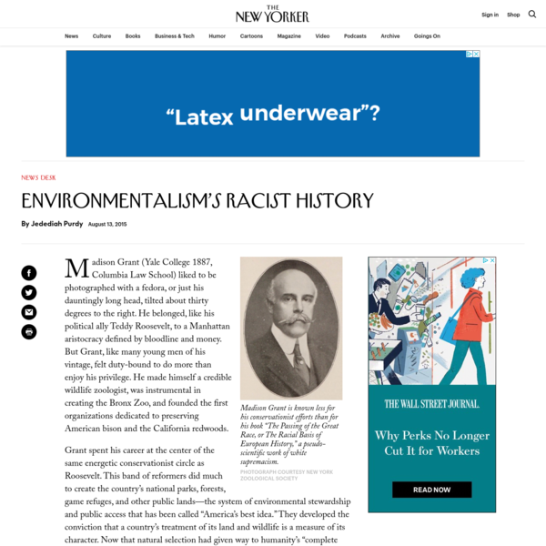 Environmentalism's Racist History