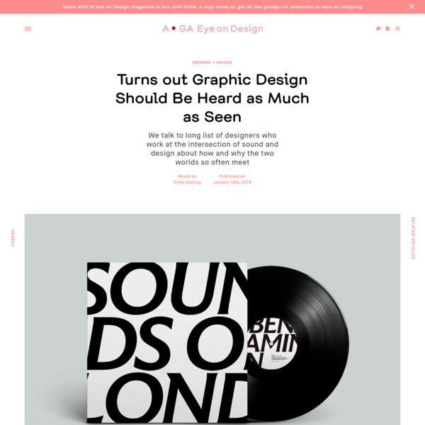 Turns out Graphic Design Should Be Heard as Much as Seen